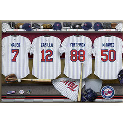 Minnesota Twins Personalized 16x24 Locker Room Canvas Priint
