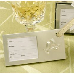 Let's Celebrate Toasting Glass Luggage Tag