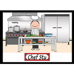 Personalized Chef Cartoon Print