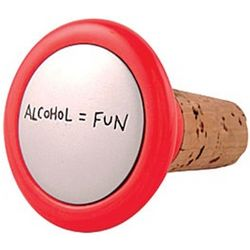 Alcohol = Fun Wine Stopper