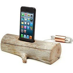 Driftwood iPhone 5 Charging Dock