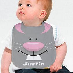Personalized Bunny Baby Bib