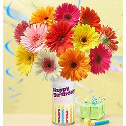 Birthday Surprise Flower Bouquet