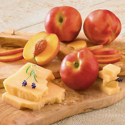 Nectarines and Promontory Cheese
