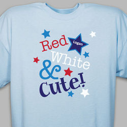 Personalized Red White and Cute Youth T-Shirt