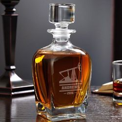 Oilfield Personalized Whiskey Decanter