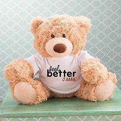 Personalized Feel Better Coco Teddy Bear