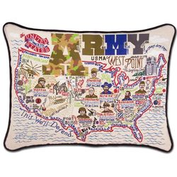 US Army Embroidered Throw Pillow