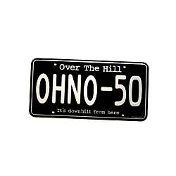 Over the Hill OHNO-50 License Plate