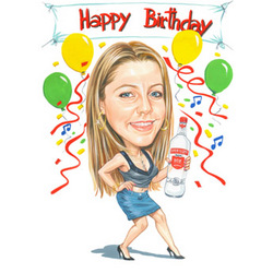 Birthday Caricature - Head and Shoulders