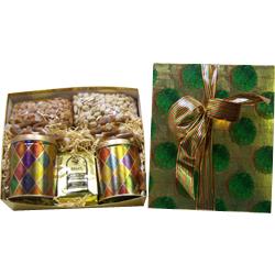Mistletoe Linen Deluxe Gift Set with Gourmet Cookies