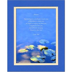 Family or Anyone Poem Water Lily Leaves Print