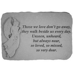 """Those We Love Don't Go Away"" Sympathy Stepping Stone"