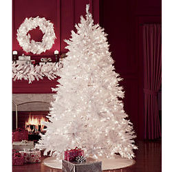 """7' 5"""" Pre-Lit White Tree"""