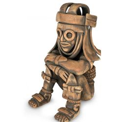 'Rain God Tlaloc' Ceramic Figurine