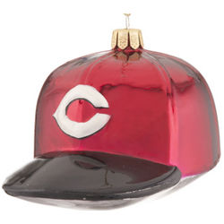 Cincinnati Reds Baseball Cap Christmas Ornament