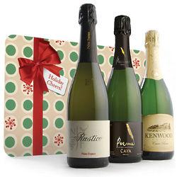 Holiday Celebration Sparkling Wine Gift Trio
