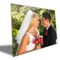 15x19 Wedding Photo Brushed Aluminum Art