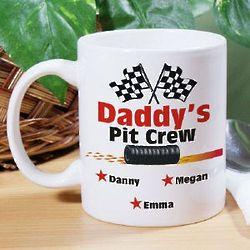 Personalized Pit Crew Coffee Mug