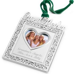 Silver 2D Grandmother Frame Ornament