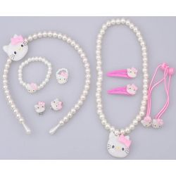 Girl's Kitty Beaded Jewelry and Hair Accessories Set