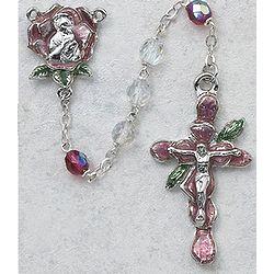 Rose Petal Crystal Rosary