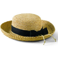 Kid's Raffia Hat with Ribbon