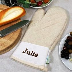 Personalized Quilted Oven Mitt