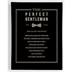 Personalized A Perfect Gentleman Wall Art