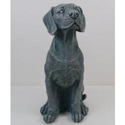 Dark Gray Dog Sculpture
