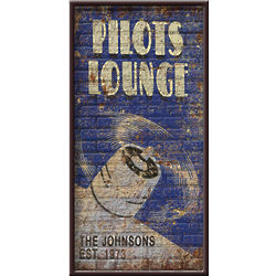 Pilot's Lounge Personalized Sign
