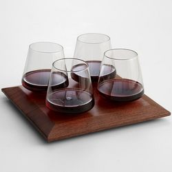 Cupa-Vino Wine Glasses and Tray
