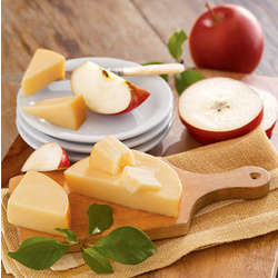 Apples and Smoked Gouda Cheese