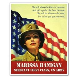 Star Spangled Gal Personalized WWII Poster