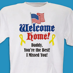 Welcome Home Flag Personalized Military T-Shirt