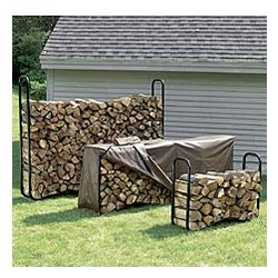 Small Log Rack with Cover