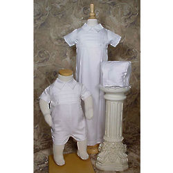 Boys Cotton Convertible Christening Set