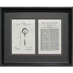 Edison's Light Bulb Patent Art