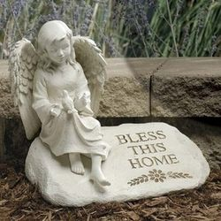 Bless This Home Angel Garden Figure