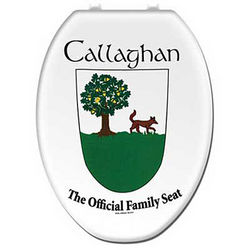 Personalized Irish Coat of Arms Toilet Seat Cover