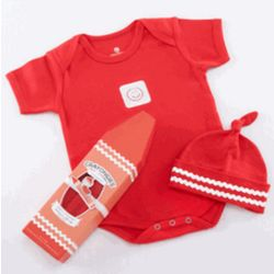 Crayonsies Two-Piece Baby Gift Set - Red