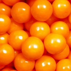 Big Orange Gumballs in a 5 Pound Bag