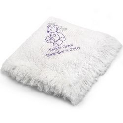 Girl's Angel Bear Mini Heart Baby Blanket