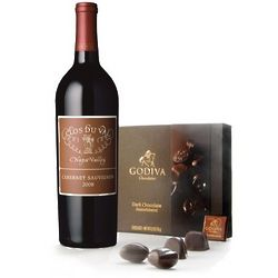 Napa Valley Cabernet and Godiva Chocolate Gift Set