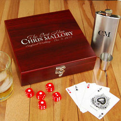 Groomsman Flask Set with Personalized Case