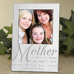 For My Mother Engraved Silver Picture Frame