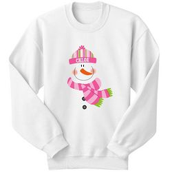 Personalized Youth Snowman Sweatshirt