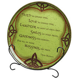 Irish Blessings Platter and Easel