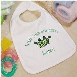 Little Irish Princess Personalized Baby Bib
