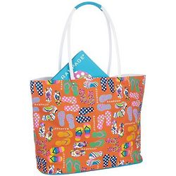Summer Footprints Jumbo Beach Tote